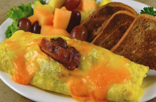 photo of menu item 'Gluten Free Bacon Cheddar Omelette'