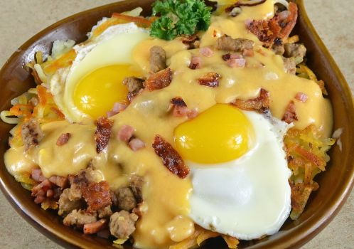 photo of menu item 'Cheese & Meat Lover's Skillet'