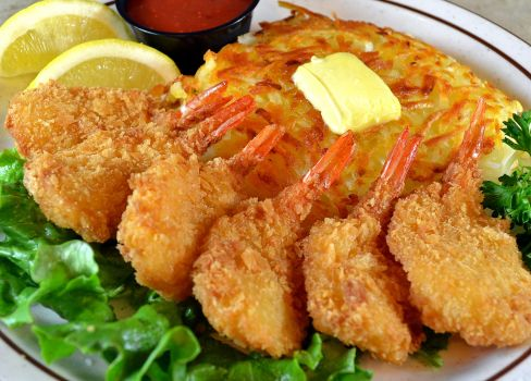 photo of menu item 'Fantail Shrimp Dinner'