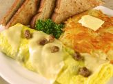 photo of menu item 'Sausage N Pepper Jack Omelette'
