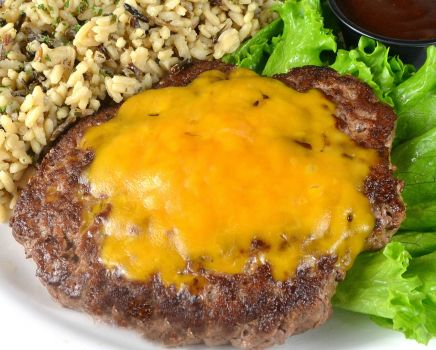 photo of menu item 'Gluten Free Cheddar Chopped Beef Steak'
